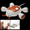 PC Laptop Cute Cartoon Beetle Design USB 2.0 4 Port Hub