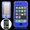 Blue Crystal Plastic Case Cover with Screen Visor for iPhone 3G / 3GS