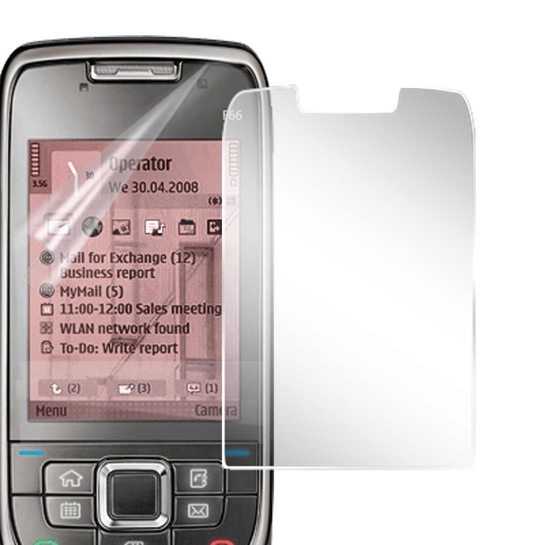 Crystal LCD Screen Protector for Nokia E66