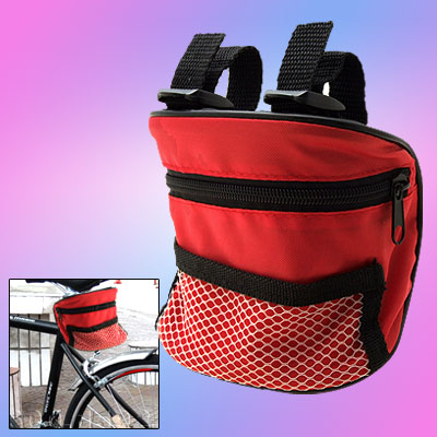 Zipper Nylon Netty Bicycle Bag for Mp4 Red