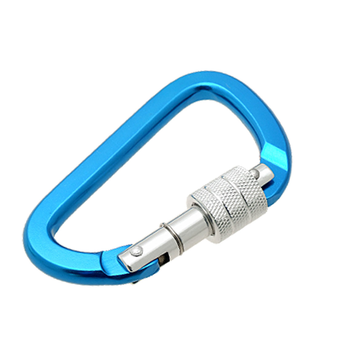 Bi-colored Painted D Shaped Aluminum Locking Carabiner