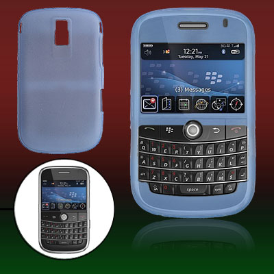 Protective Silicone Skin Case Cover for BlackBerry 9000 Skyblue