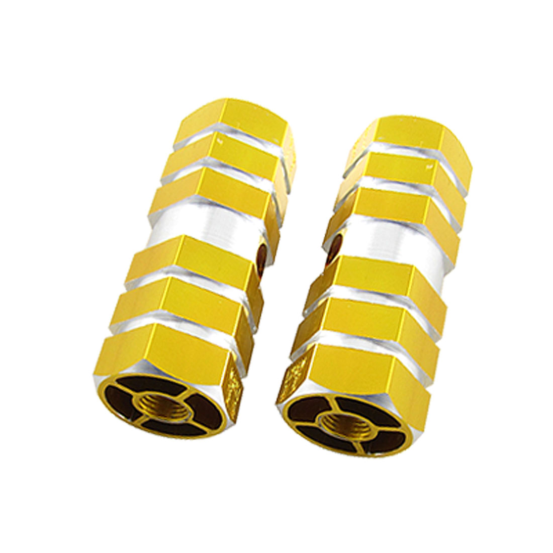 Children's Bicycle Bike Stunt Axle Aluminum Foot Pegs Golden for BMX
