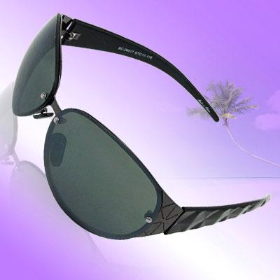 Big Oval Lens Plastic Arms Ladies' Men's Sunglasses