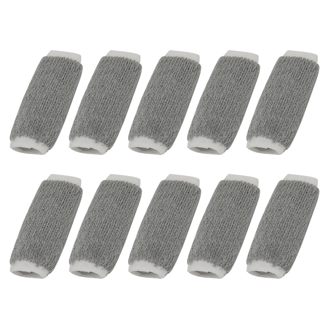 Sport Volleyball Basketball Fingerstall Sleeve Protection Bandage Cover Gray 10 PCS