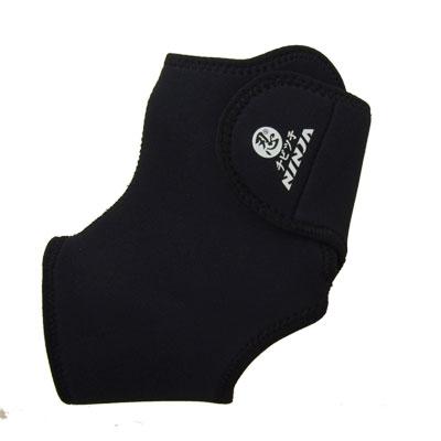 Sport Soft Hook and Loop Fastener Adjustable Neoprene Ankle Support Black