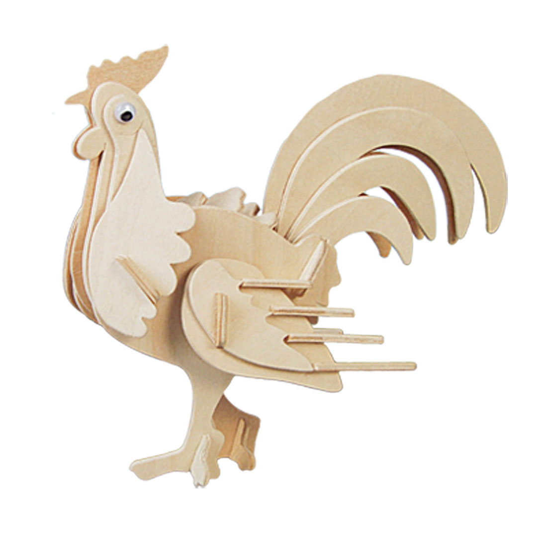 Cock Model Puzzle Woodcraft Construction Kit Toy