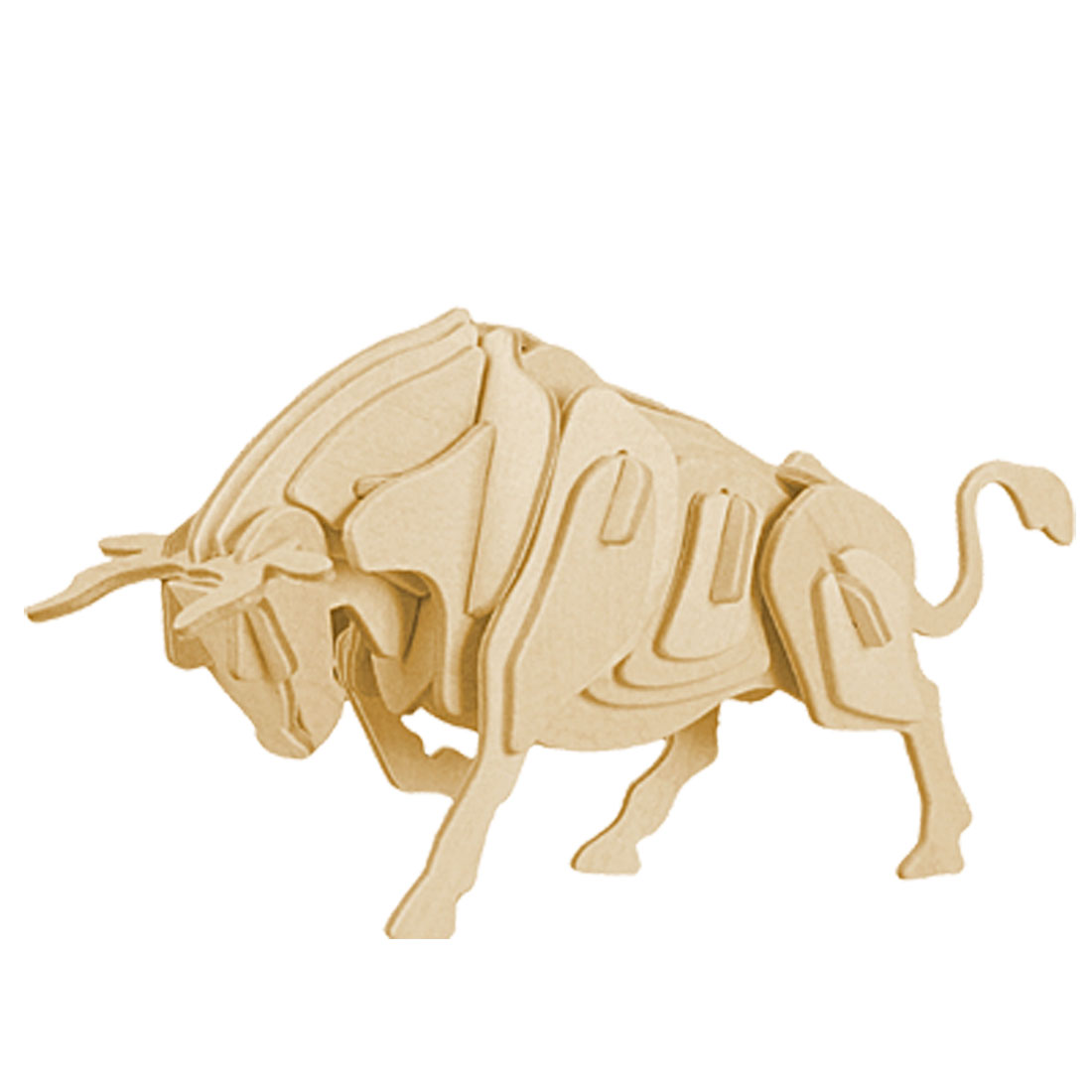 3D Wooden Puzzle Bull Toy Woodcraft Construction Kit