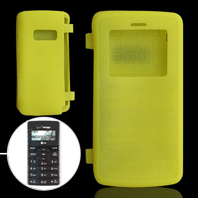 Yellow Protective Silicone Skin Case Cover for LG VX9100