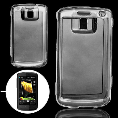 Clear Crystal Hard Plastic Case Protector for HTC Touch HD