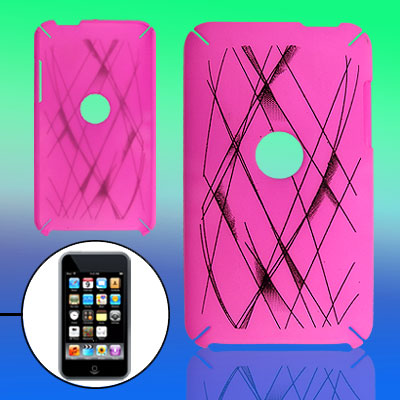 Round Hole Gridding Pattern Plastic Case for iPod Touch 2
