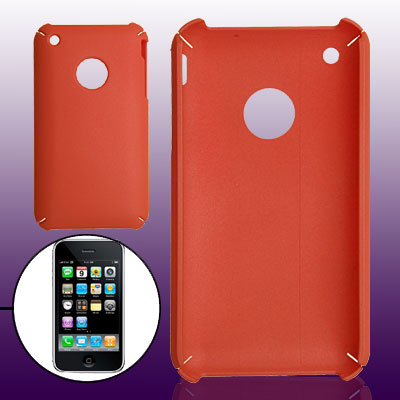 Brick Red Cozy Hard Plastic Case Cover for Apple iPhone 3G / 3GS