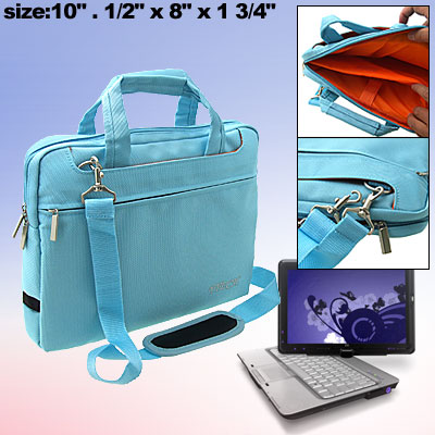 10 Inch Notebook Bag Laptop Carrying Case Light Blue