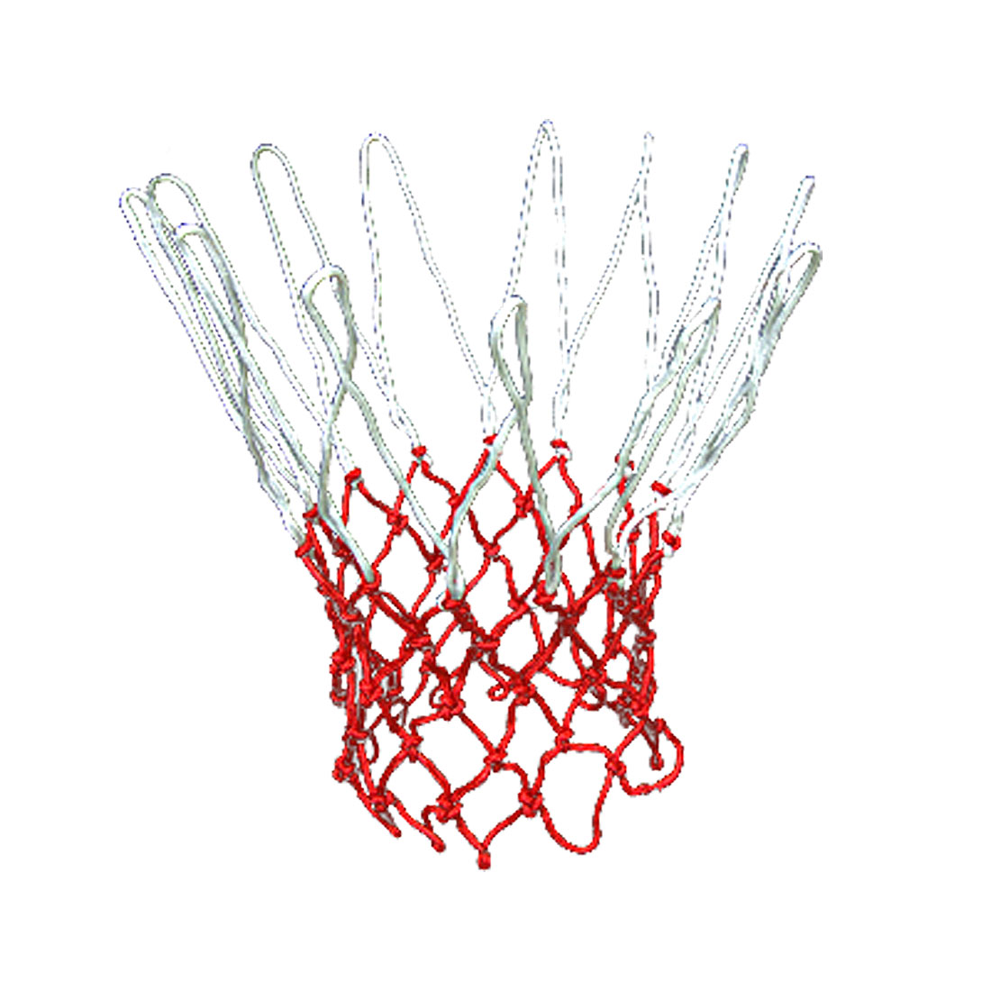 Extra Long All-Weather Durable XL Match Entertainment Basketball Net Red and White