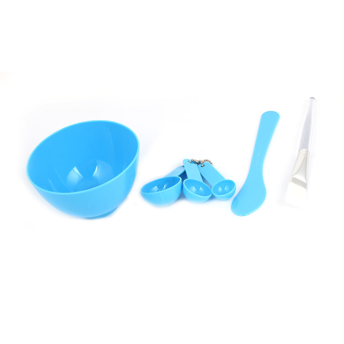 Blue Homemade Face Mask Mixing Bowl Brush Gauge Stick Set