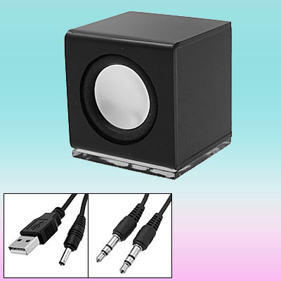 Mini Portable Black Sound Speaker Box for MP3 PC Mobile