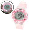 Pink Digital Sports Wrist Watch with Cold Light for Girls
