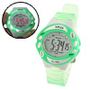 Child Girls Green Fashion Digital Sports Wrist Watch Stopwatch
