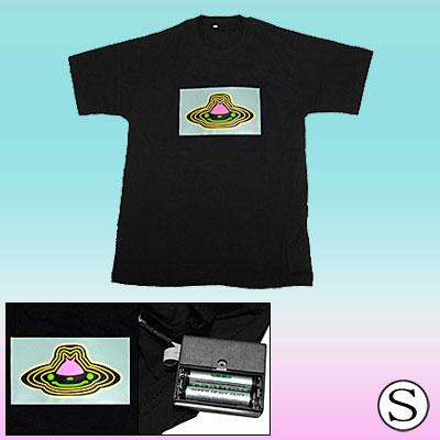 Flashing UFO Pattern Dancing LED Sound-activated EL Equalizer Digital T-shirt