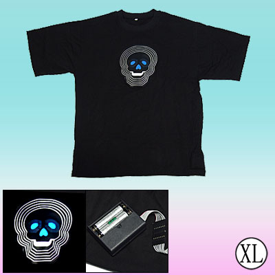 Digital Dancing LED Sound-activated Flashing Cross EL T-shirt -XL Size