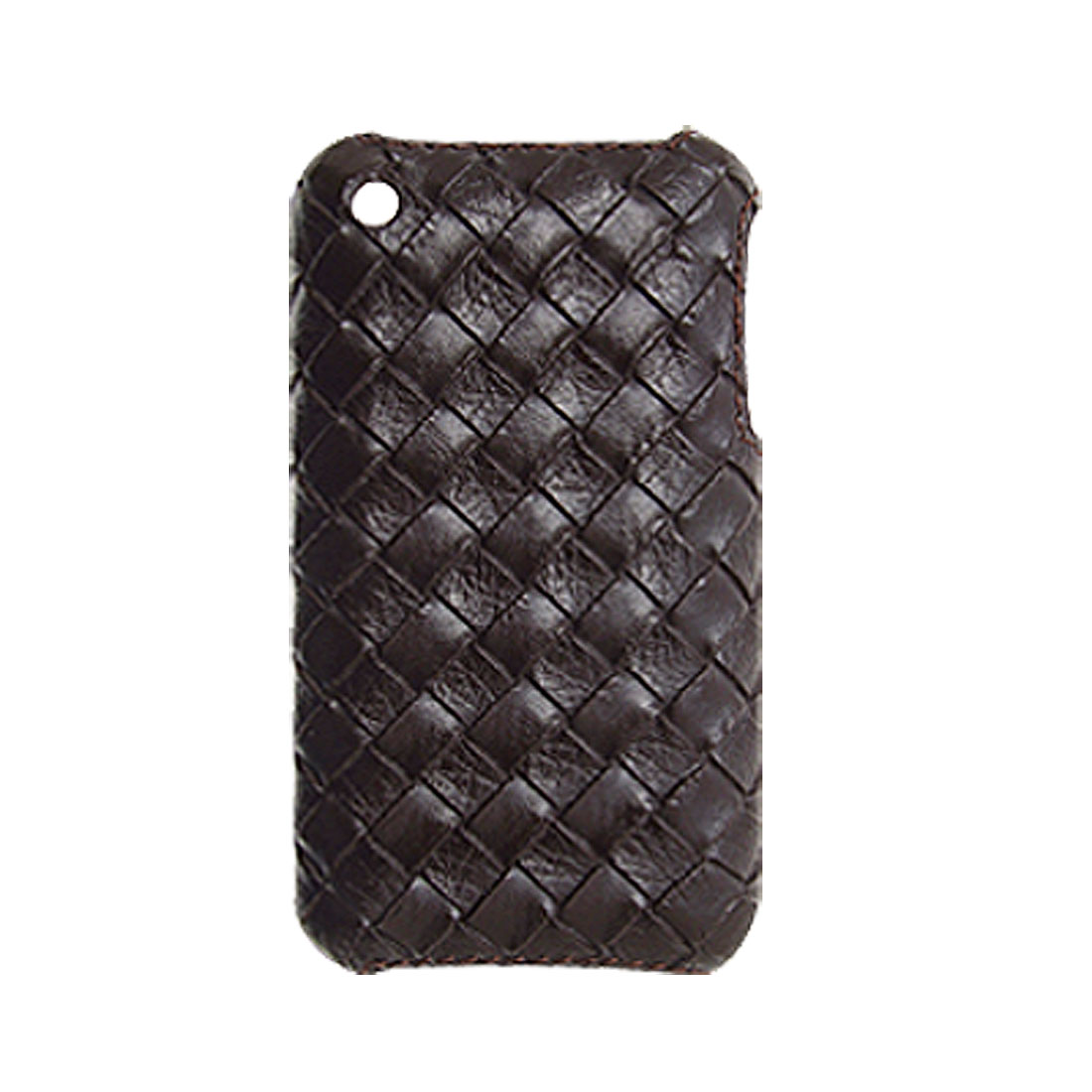 Leather Gridding Coated Plastic Case Cover for iPhone 3G / 3GS
