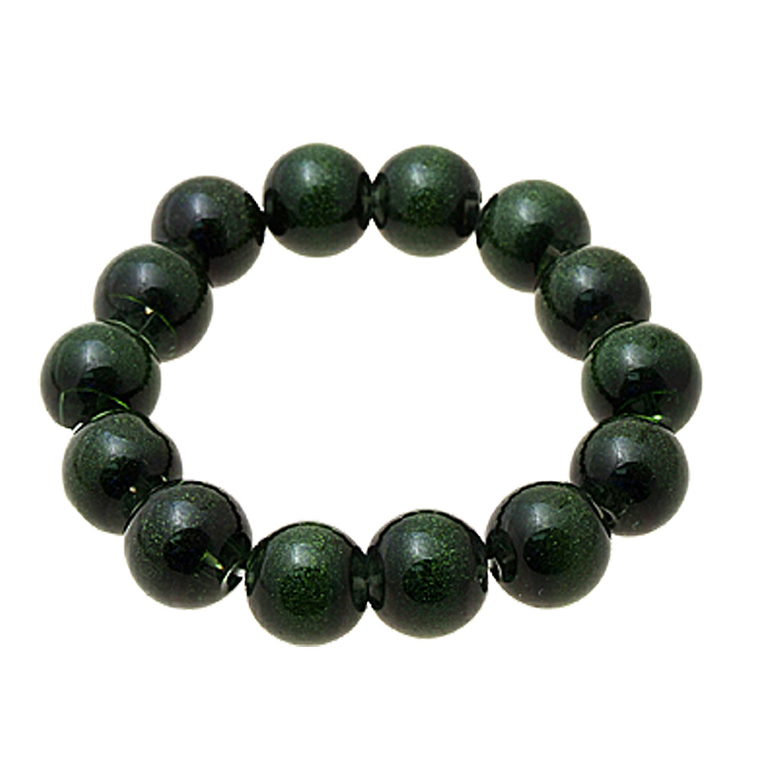 Hippi Fashion Decorative Green Beads Bracelet for Summer