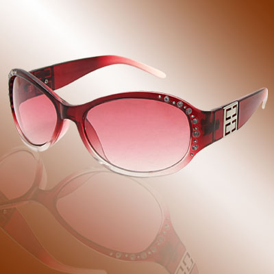 Modern Crystal Plastic Girls Ladies Rhinestone Red Sunglasses