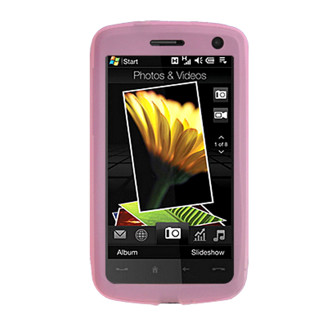 Pink Silicone Skin Case Cover for HTC Touch HD