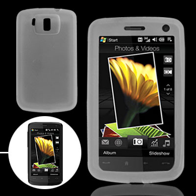 Clear White Silicone Skin for HTC Touch HD