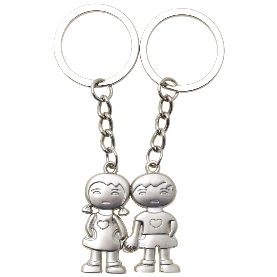 Magnetic Charms Boy & Girl Pendant Pair Couple Keychain Keyring