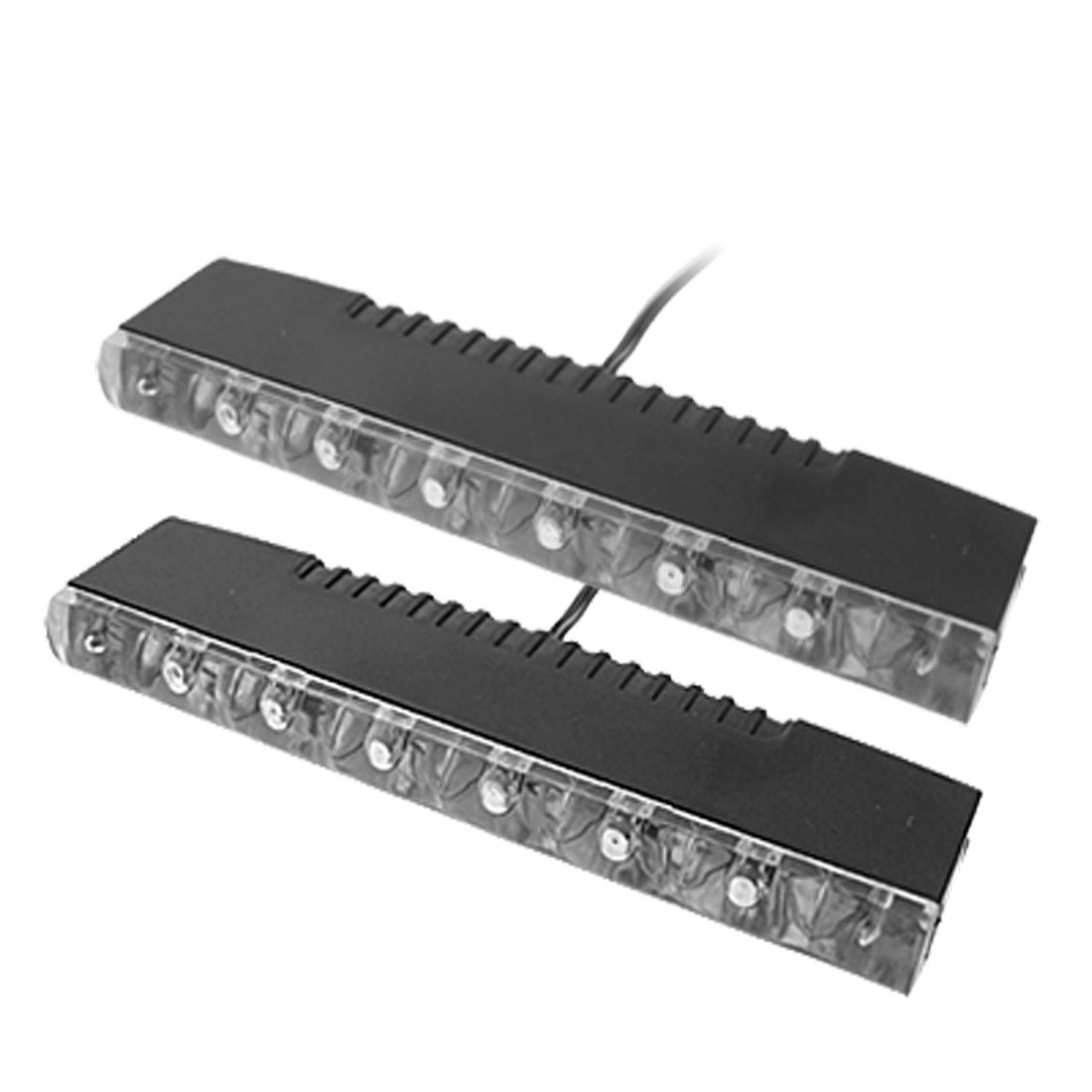 Car Day Fog 6 White LEDs DRL LED Daytime Running Light DC 12V 2 Pcs