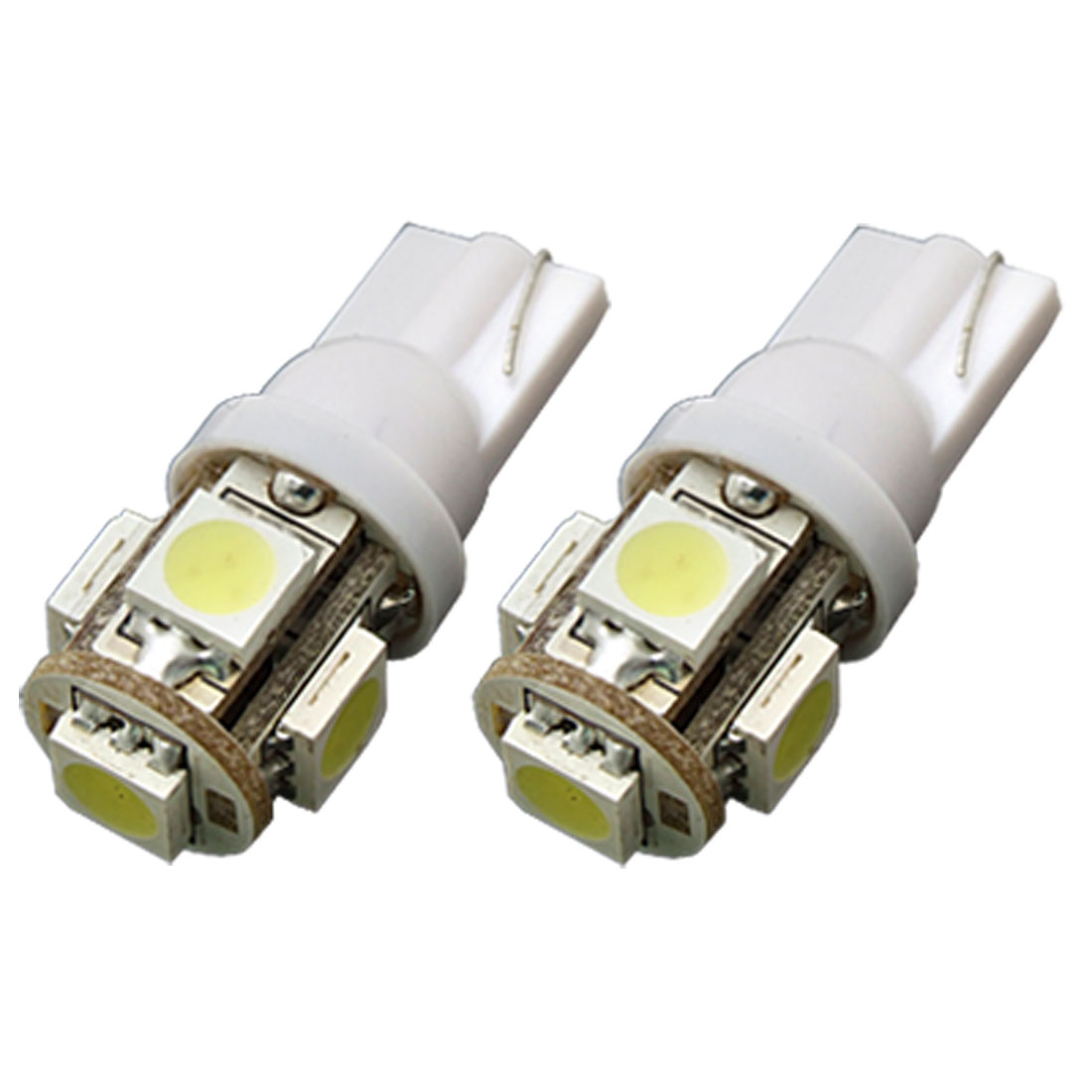2 x T10 5 SMD 5050 LED Auto Car Lamp 12V Vehicle Signal Lights