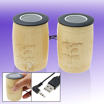 Natural Resonance of Bamboo USB Sound PC Laptop Desktop Speakers