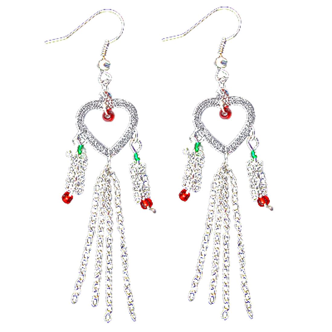 Fashion Heart Shape Design Earring Silvery