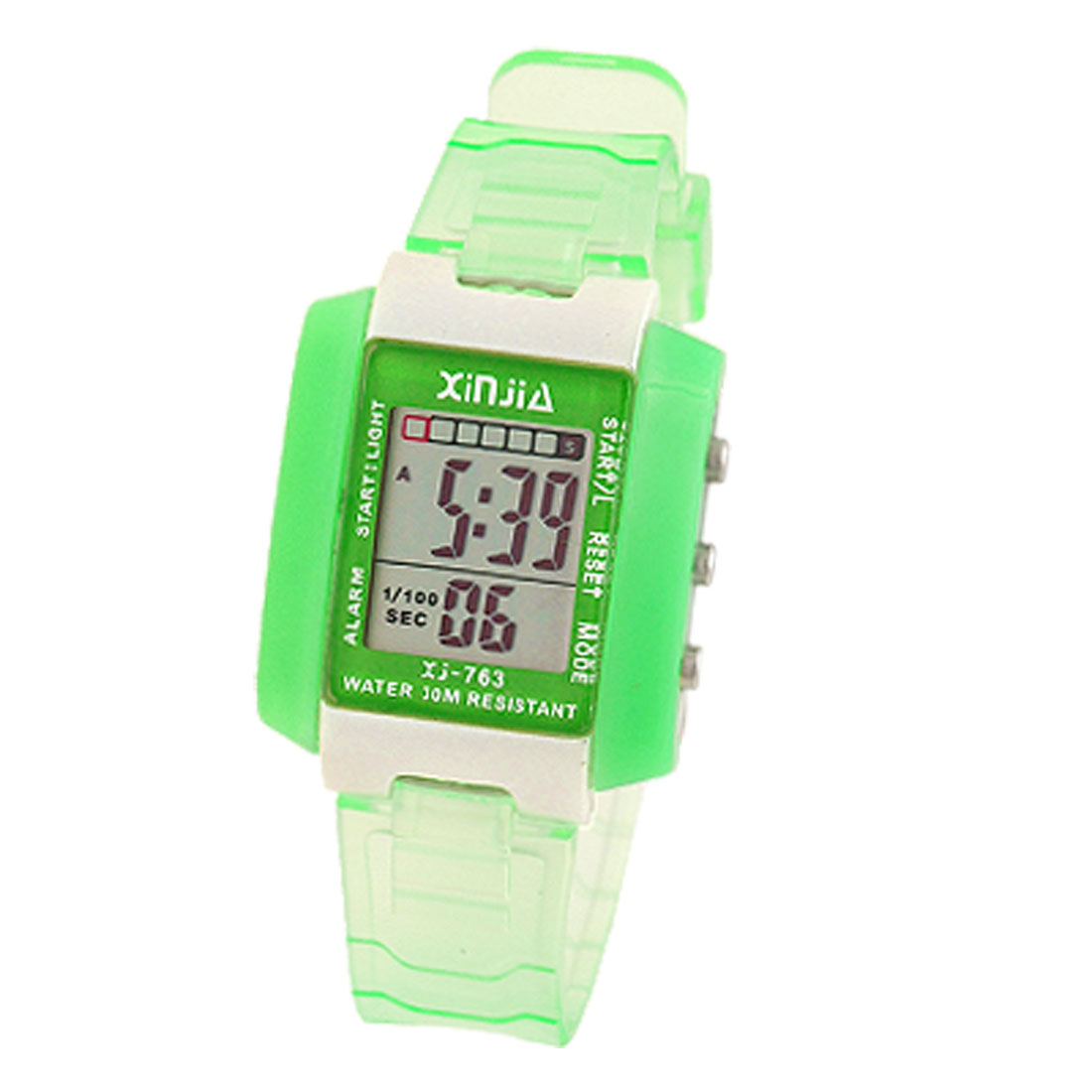 Green Ditial Sports Alarm Wrist Watch Stopwatch for Kids