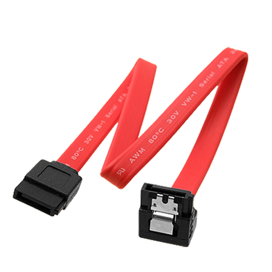 Serial ATA SATA 7 Pin (F) Right Angle to 7 Pin (F) Straight Extension Cable Red