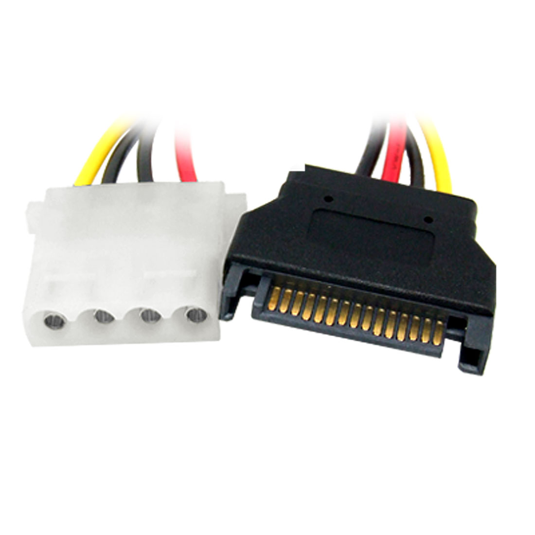 SATA 15 Pin Male to 4 pin Female Power Cable