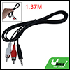 Car 3.5mm Headphones Connector Male to 2 Male RCA AV Audio Cable