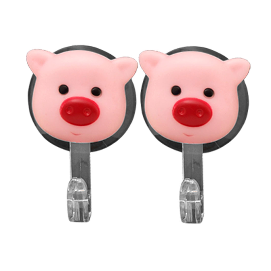 Mini Pink Pig Suction Cup Window Decorative Hanger Hook