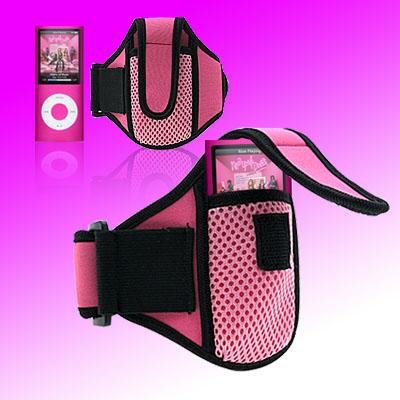Pink Sports Armband for iPod Nano Chromatic 4th Generation