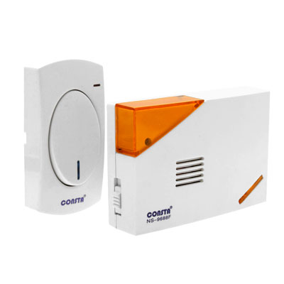 White Wireless Doorbell Door Bell Chime w Faraway Control
