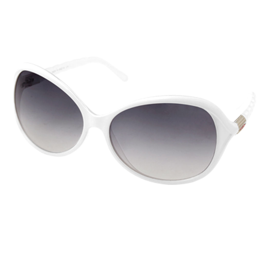 Plastic Ladies Sunglasses with White Frame