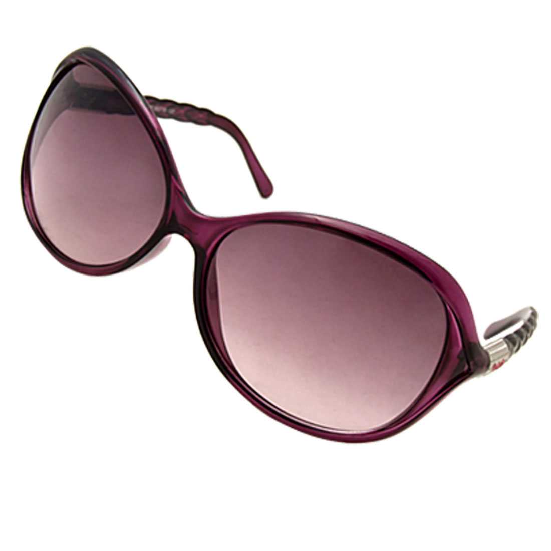 Stylish Big Lens Plastic Ladies' Sunglasses Eyewear Purple