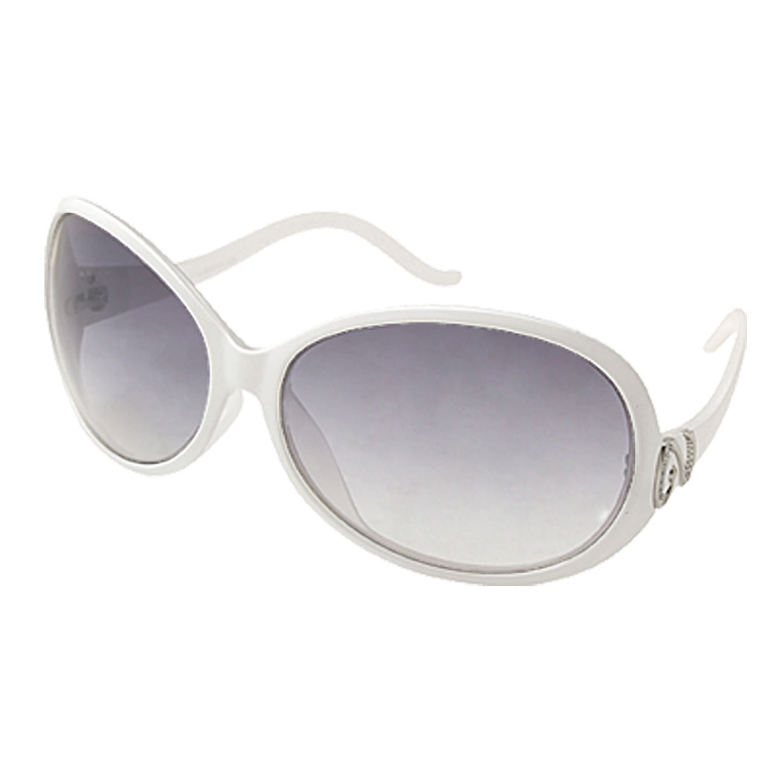 Fashion Plastic Sunglasses with White Frame for Ladies