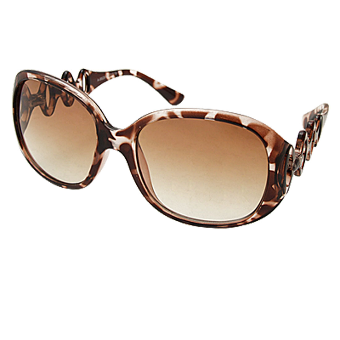 Lady's Shopping Sunglasses with Brown Lens and Frame