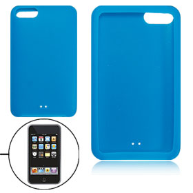 Blue Silicone Back Case for iTouch 2G