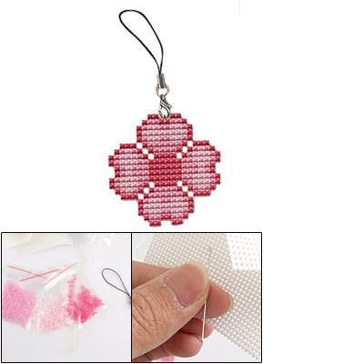 Counted Cross Stitch Cross-Stitch Kit Two Sided Flower Heart Pattern