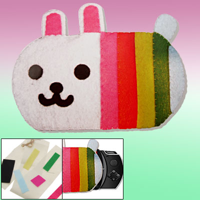 Colorful Rabbit DIY Fabric Stitch Handicraft Holder Bag for Home Decor