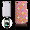 Anti-Slip Grid Plastic Back Case Cover for Apple iPhone 3G / 3GS