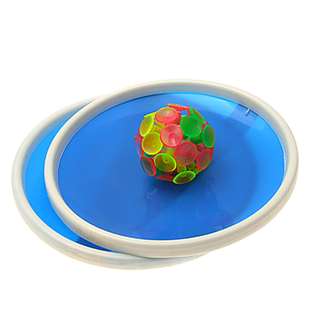 Blue Sticky Ball Game with 32 Suction Cup and 2 Round Bats